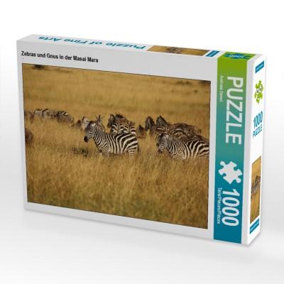 Zebras und Gnus in der Masai Mara
